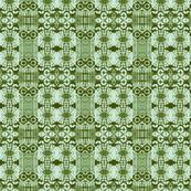 Green tile abstract