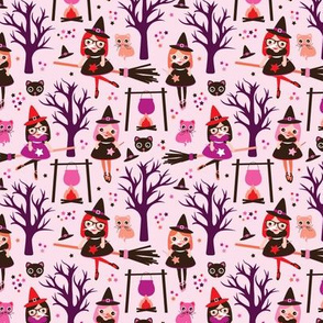 Magic potion and witch halloween pattern MEDIUM