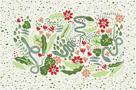 Sneaky is my Nature 2 fabric by quirkysewing on Spoonflower - custom fabric
