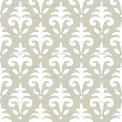 Mini Jacquard - Autumn Plum Farm - Beige