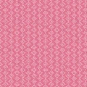 Chevron Diamond white on Pink