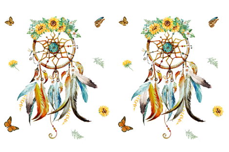 "27""x36"" Summer Dreaming Dreamcatcher fabric by shopcabin on Spoonflower - custom fabric"