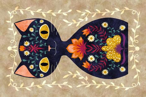 cat fabric by gaiamarfurt on Spoonflower - custom fabric