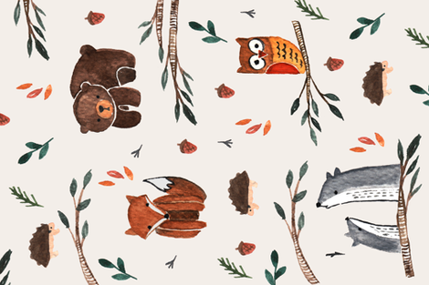 Spoonflower_kristen_animal fabric by kristenkiong on Spoonflower - custom fabric