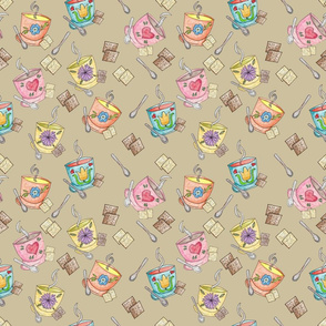 Souper Pattern Dark Tan