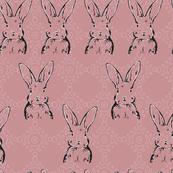 Rabbit Scatter Vintage Rose