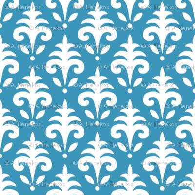 Mini Jacquard - Breezy Farm - Blue