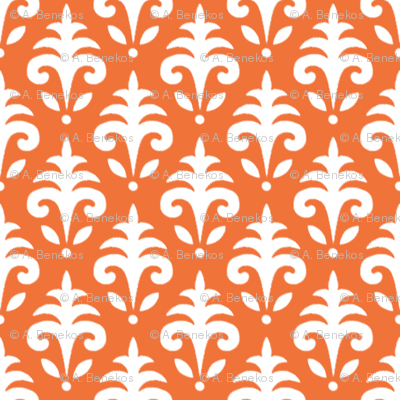 Mini Jacquard - Hollyhock Farm - Orange