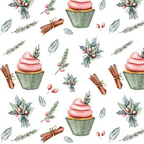 "6"" Festive Cupcakes // White"