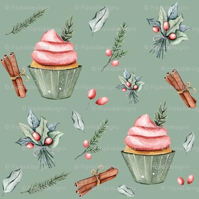 "6"" Festive Cupcakes // Envy Green"