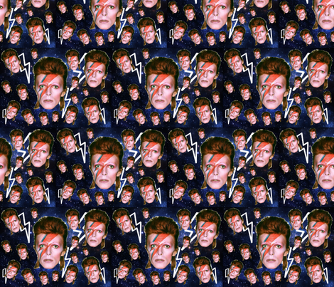 bowies in space fabric by shadypinesfabric on Spoonflower - custom fabric