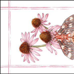 Tea Towel: Watercolor Regal Moth