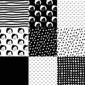 GK Chesterton patchwork black and white smaller