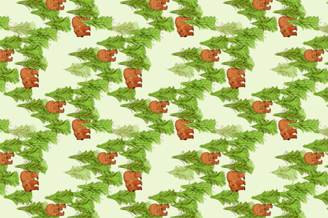Brown Bears fabric by eileenmckenna on Spoonflower - custom fabric