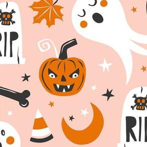 Halloween Haunting - Blush Pink Jumbo Scale