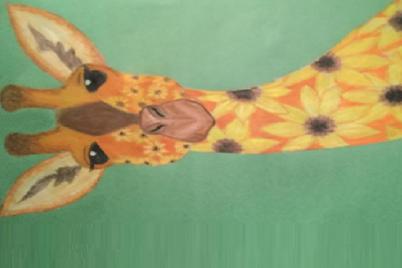 SUNNY GIRAFFE fabric by proverbs31girl on Spoonflower - custom fabric