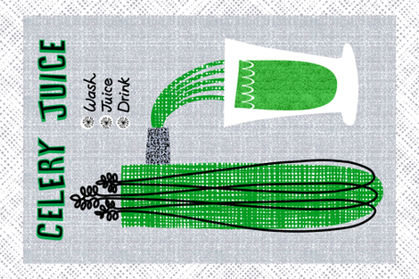 Celery Juice fabric by ottomanbrim on Spoonflower - custom fabric