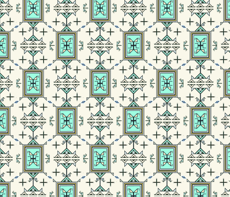 blackfoot quill work fabric by redmetalraven_ on Spoonflower - custom fabric