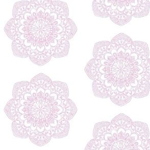 Pale pink ballet pink medallion print