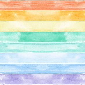 watercolor rainbow stripes C18BS