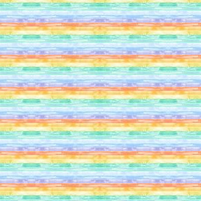 (extra small scale) watercolor rainbow stripes C18BS