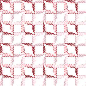 Trois Lignes II in Rose Red