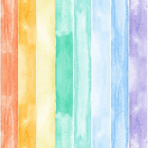 watercolor rainbow stripes C18BS (90)