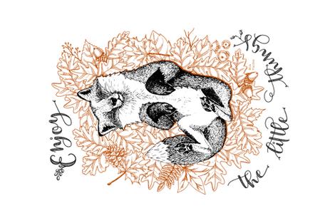 Enjoy the Little Things_Tea Towel fabric by mia_valdez on Spoonflower - custom fabric