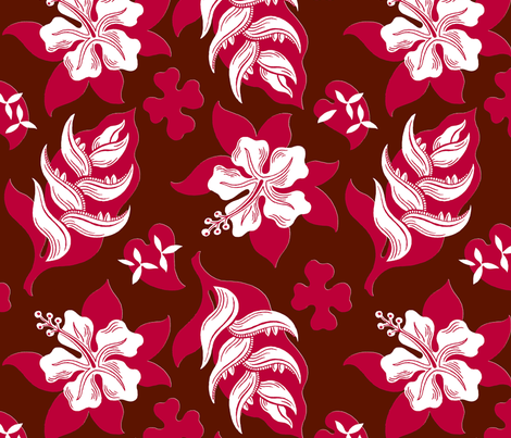 Royal Hawaiian 1b fabric by muhlenkott on Spoonflower - custom fabric