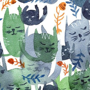 Cat Cacophony Pattern