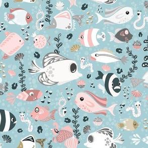 Funny Fish-Blue-150
