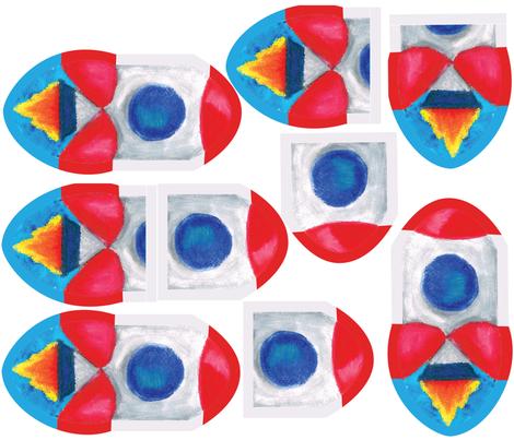 rocket pencil case-01-01 fabric by stargazingseamstress on Spoonflower - custom fabric