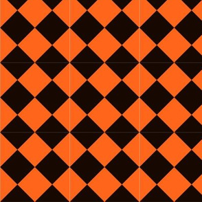 Halloween Costume Stripe Diamonds Black and Orange-01