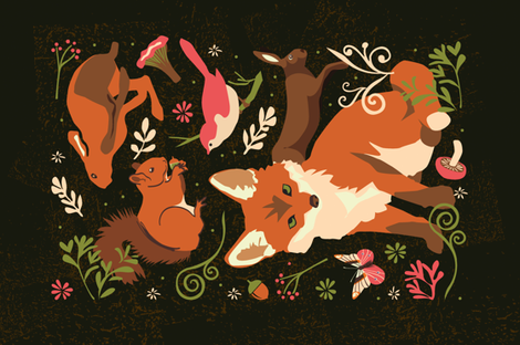 Forest friends fabric by camcreative on Spoonflower - custom fabric