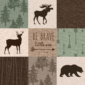 No antler Be Brave Quilt- custom