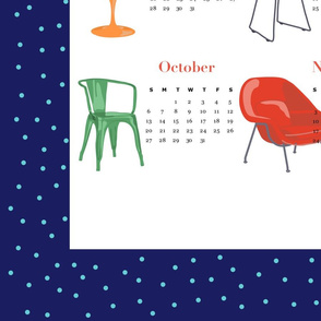 Modern Chair 2019 Calendar Tea Towel