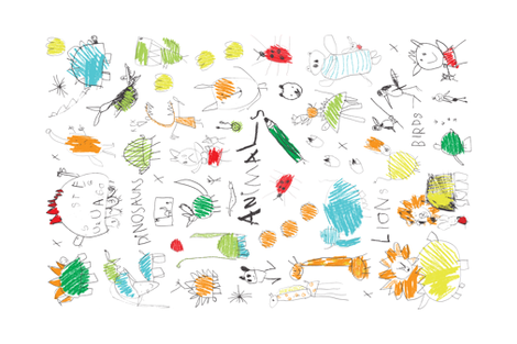 My favourite Animals - tea towel - collaboration fabric by cecca on Spoonflower - custom fabric
