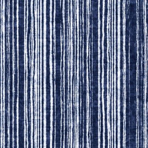 Indigo Irregular Stripe