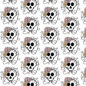 Sugar Skull with Rose designs
