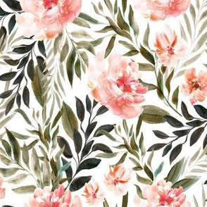 Large // Woodland Coral Florals