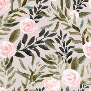 "16"" Woodland Blush Roses // Swiss Coffee"