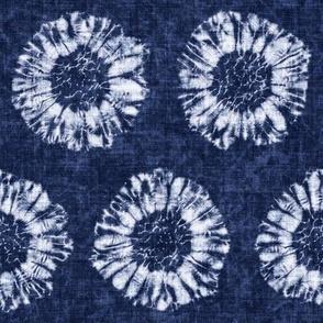 Shibori Bold Dot Floral Motif