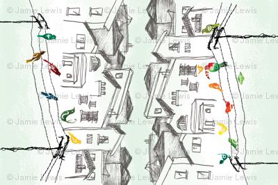 Birds on a Wire tea towel