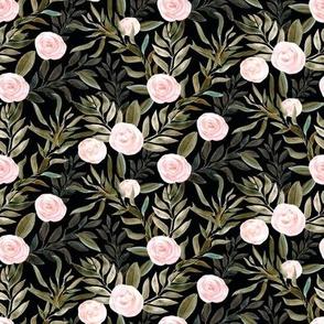 """8"""" Woodland Blush Roses // Black"""