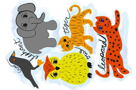 Biological Illustration fabric by orangefancy on Spoonflower - custom fabric