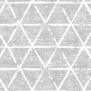 (large scale) textured triangles - woven light grey