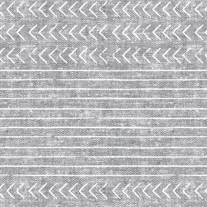 mud cloth stripes - mudcloth woven grey