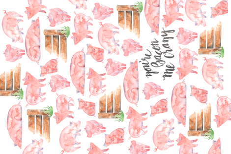 You're Bacon Me Crazy fabric by abearcub on Spoonflower - custom fabric