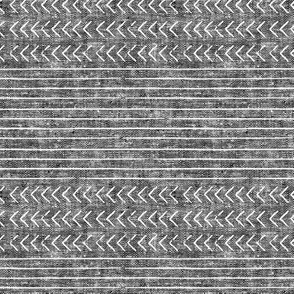 mud cloth stripes - mudcloth woven dark grey