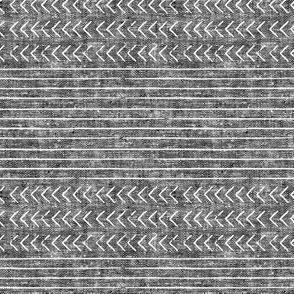 mud cloth stripes - mudcloth woven dark grey